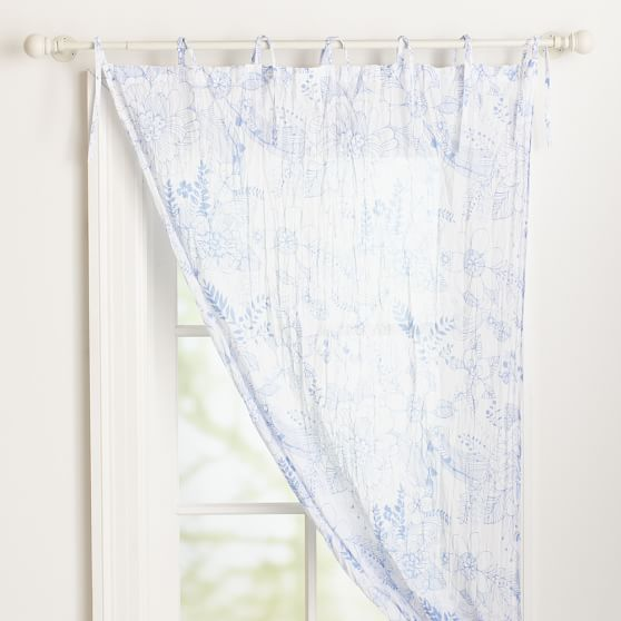 Hana Floral Printed Twisted Sheer, 40x96