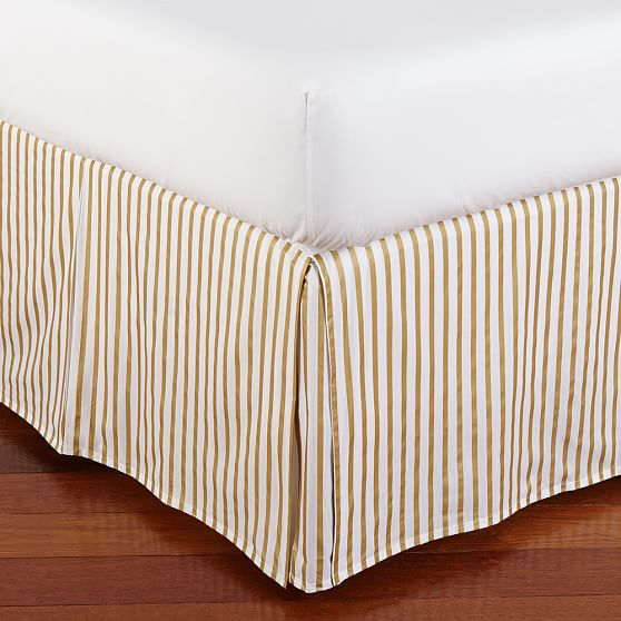 The Emily & Meritt Metallic Stripe Bed Skirt, Twin
