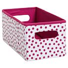 Mix `N Match Storage Mini Bin, Single, Mini Dot Pink