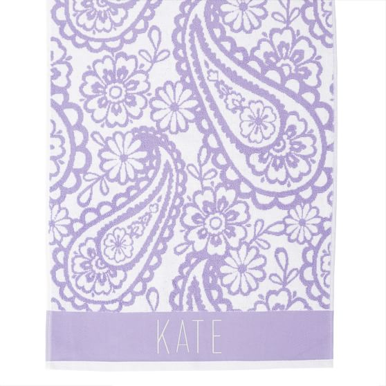 Garden Paisley Bath Towel, Purple