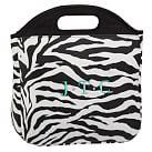 Gear Up Tote Lunch Bag, Zebra Black