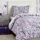 Vintage Paisley Duvet Cover, Twin, Cool
