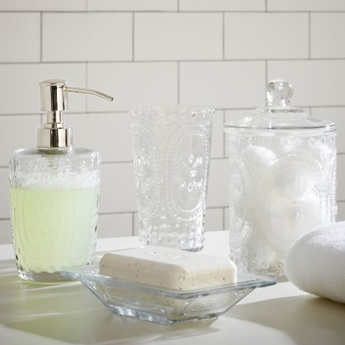 Pressed Glass Soap Dish