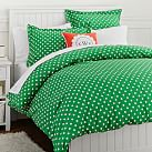 Dottie Duvet Cover, Twin, Kelly Green