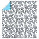Graphic Bloom Quilt, Twin, White/Black