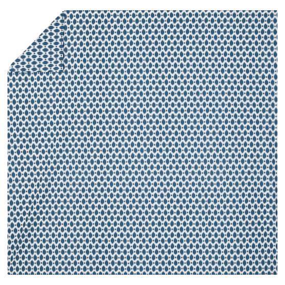 Ikat Dot Organic Duvet Cover, Full/Queen, Navy