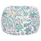 Terra Paisley Cool Beanbag, Slipcover + Beanbag Insert