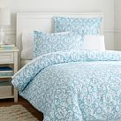 Damask Duvet Cover, Twin, Sky Blue