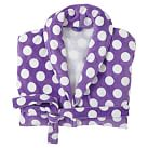 Dots-A-Lot Terry Robe, Purple