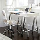 Customize It Project Desk Top + Metal Legs, Tuscan