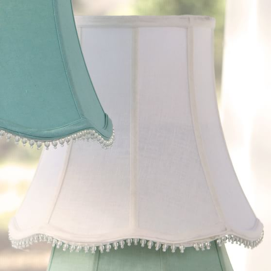 Scallop Table Shade, White