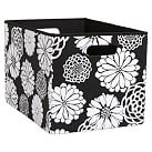 Mix `N Match Storage Large Bin, Single, Graphic Floral Black