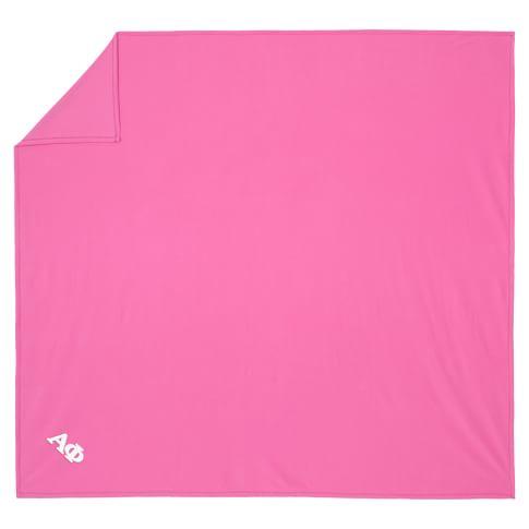 Greek SuperPlush Blanket, Full/Queen, Bright Pink