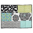 Graphic Patch Sham, Standard, Black Multi