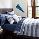 Hamilton Plaid Duvet Cover, Twin, Navy Multi