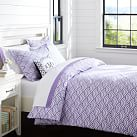 Quincy Scallop Duvet Cover, Twin, Purple