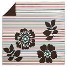 Stems & Stripes Duvet Cover, Twin, Multi