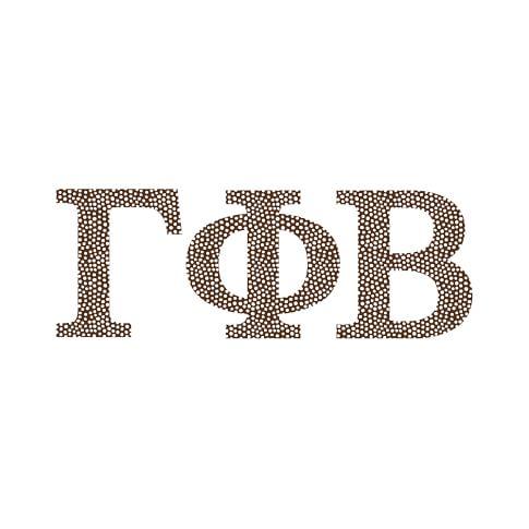 Greek Alphabet Decals, Mini Dot Coffee, Gamma Phi Beta