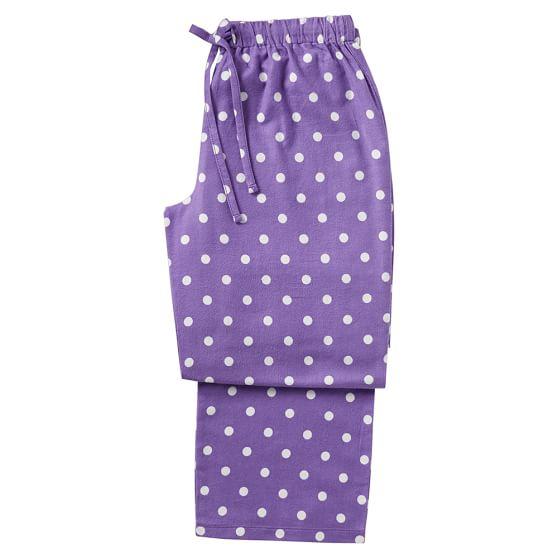 Sweet Dreams Pajama Pants, Small, Dottie Purple