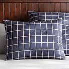 Boxter Plaid, Standard Sham, Navy/White