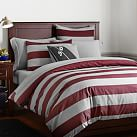 Rugby Stripe Duvet Cover + Sham, Twin, Vineyard Vine/Grey