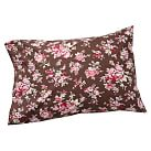 Sunwashed Floral Pillowcase, Standard, Set of 2, Coffee