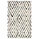 Kaleidoscope Kilim Rug, 5x8, Black/White
