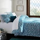 Urban Ikat Duvet Cover, Full/Queen, Sea Blue