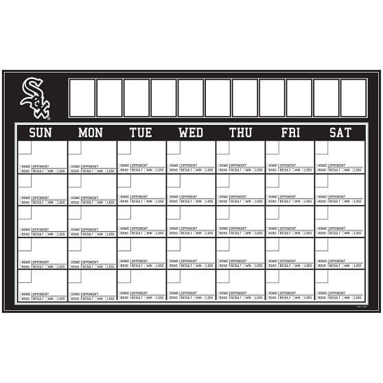 MLB Dry-Erase Calendar Decal, Chicago White Sox