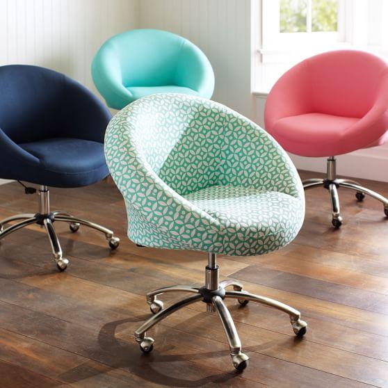 Egg Desk Chair, Geo Pool