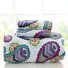 Paisley Power Chamois Sheet Set, Twin/Twin XL, Blue Multi