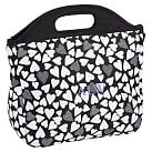 Gear-Up Tossed Hearts Tote Lunch, White & Black