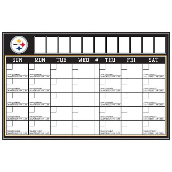NFL Calendar, Pittsburgh Steelers
