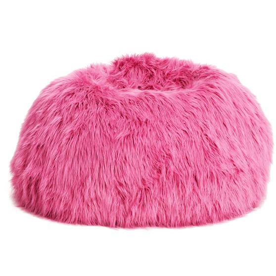 Himalayan Deep Pink Beanbag, Large, Slipcover + Beanbag Insert