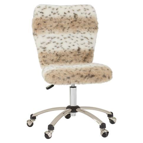 Airgo Armless Chair, Snow Leopard