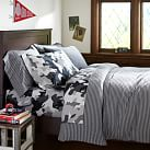 Tonal Stripe Favorite Tee Duvet Cover, Twin, Black