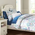 Swirly Paisley Duvet, Twin, Blue Multi