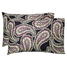 Cameron Paisley Pillowcase, Standard, Set Of 2, Black Multi