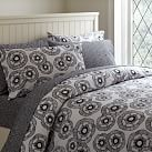 Mini Fleur Duvet Cover, Twin, Black