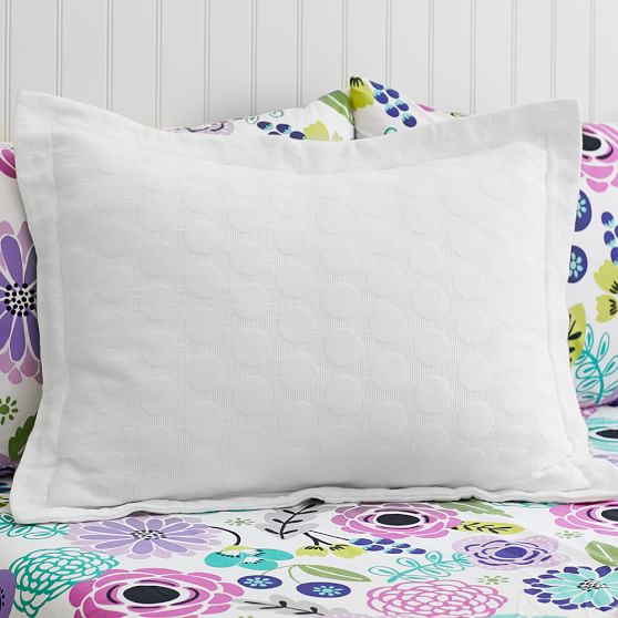 Big Dot Matelasse Sham, Standard, White
