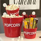 Popcorn Bowl, Red/White, Family Size