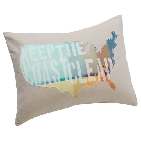 Surfer Dude Surf Pillows, Standard, Keep The Coast Clear