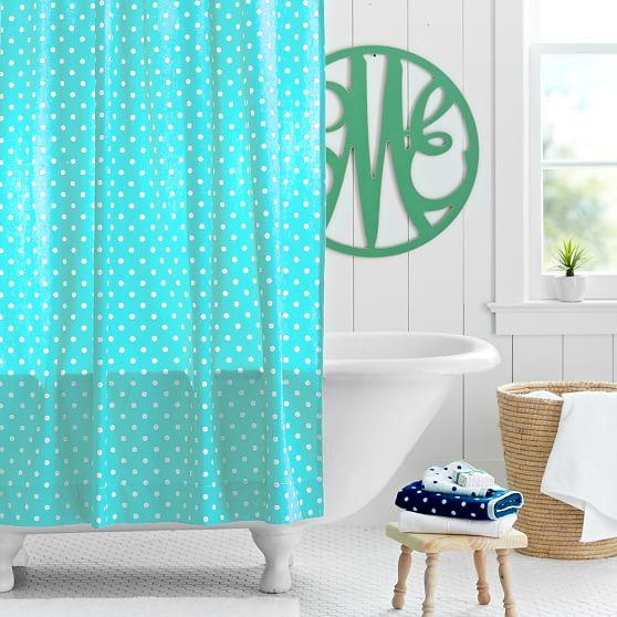 Dottie Shower-Curtain, Pool