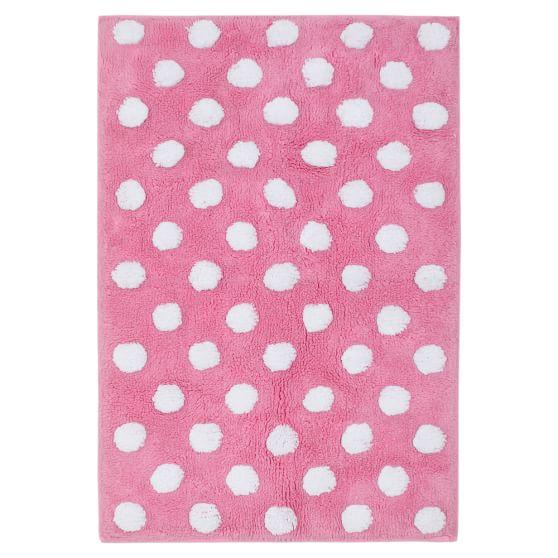 Dottie Bath Mat, Bright Pink