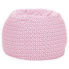 Geo Dot Pink Beanbag, Slipcover + Beanbag Insert