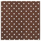 "Style Tile, Fabric-Covered Tackboard, includes 10 pushpins, 16""sq, Coffee Dottie"