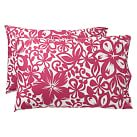 Isabel Floral Organic Pillowcase, Standard, Set Of 2, Pink Magenta