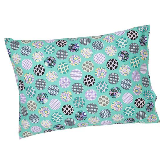 Ruched Sleeping Bag Pillowcase, Standard, Dot Cool