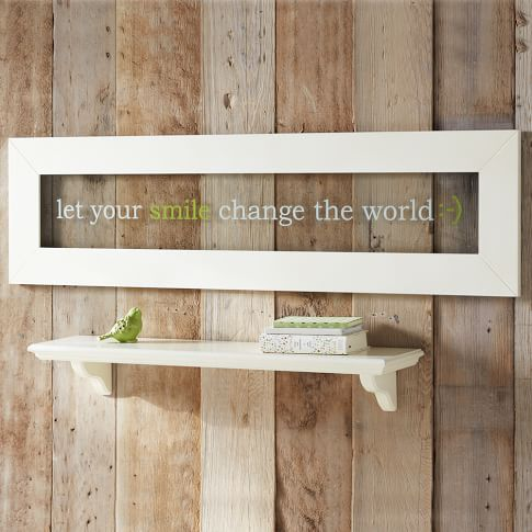 White Framed Glass Art, Let Your Smile Change The World