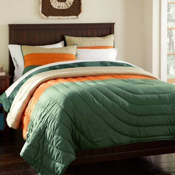 Burton Colorblock Quilt, Full/Queen, Green/Orange